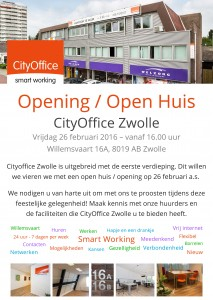 2016-02-26 Opening - Open Huis CityOffice Zwolle